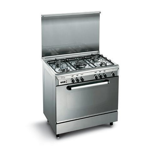 Cucina 80x60 inox glem gas e86tin - Cucina a gas glem ...